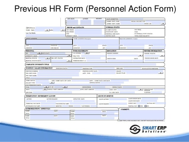 Personnel Action Requests For Peoplesoft