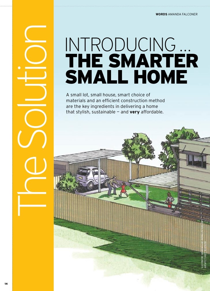 Smarter small home brochure for Smarter small home