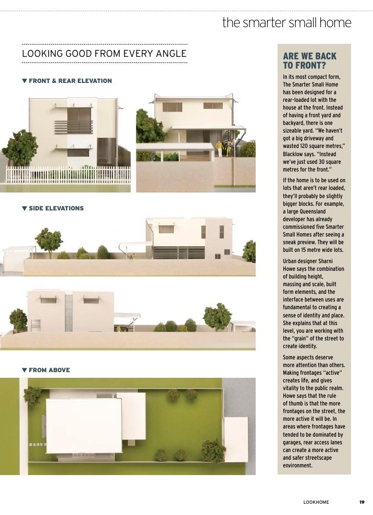 Smarter small home brochure for Smaller smarter home plans