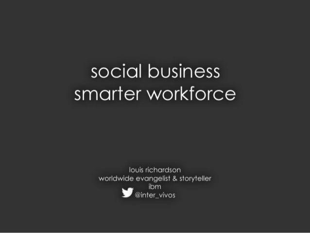Smarter social workforce