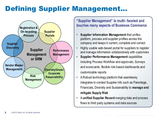 Smarter Supplier Management – Improving Supplier Performance Through …