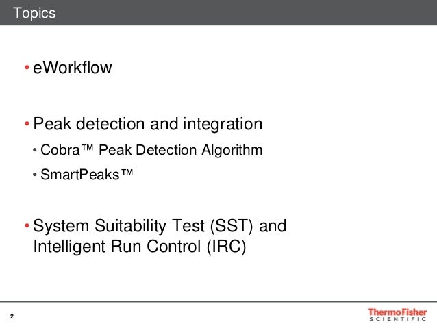 Smarter workflows with thermo scientific chromeleon cds