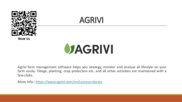 AGRIVI Agrivi farm management software helps you strategy, monitor and analyse all lifestyle on your farm easily. Tillage,...