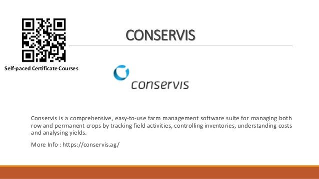 CONSERVIS Conservis is a comprehensive, easy-to-use farm management software suite for managing both row and permanent cro...