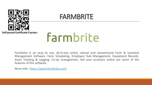 FARMBRITE Farmbrite is an easy to use, all-in-one online natural and conventional Farm & Livestock Management Software. Fa...