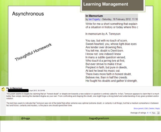 @ifoggs ifoggs@gmail.com Learning Management Asynchronous