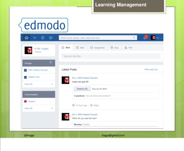 @ifoggs ifoggs@gmail.com Learning Management