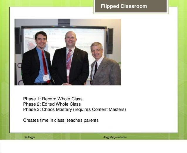@ifoggs ifoggs@gmail.com Flipped Classroom Phase 1: Record Whole Class Phase 2: Edited Whole Class Phase 3: Chaos Mastery ...