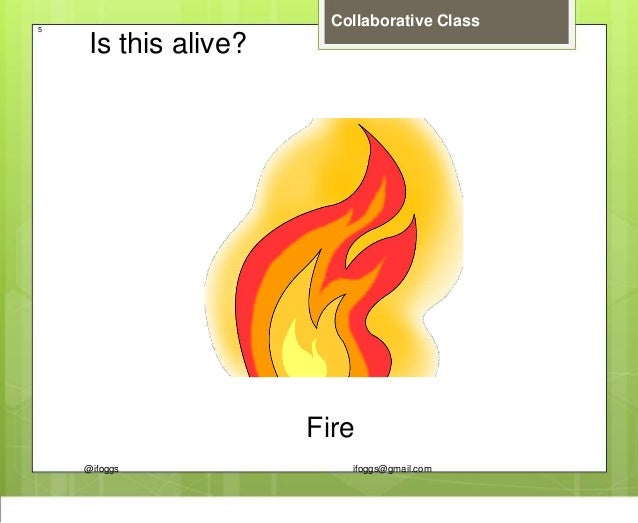@ifoggs ifoggs@gmail.com Collaborative Class5 Is this alive? Fire