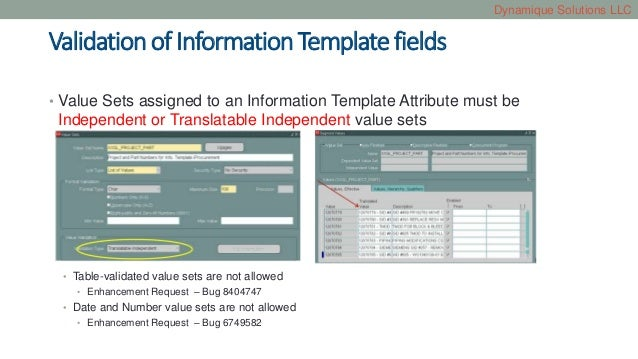 Smart forms and information templates in Oracle iProcurement – Information Templates