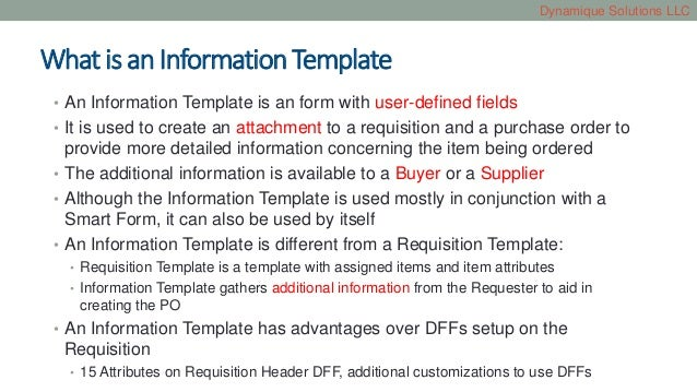 information templates