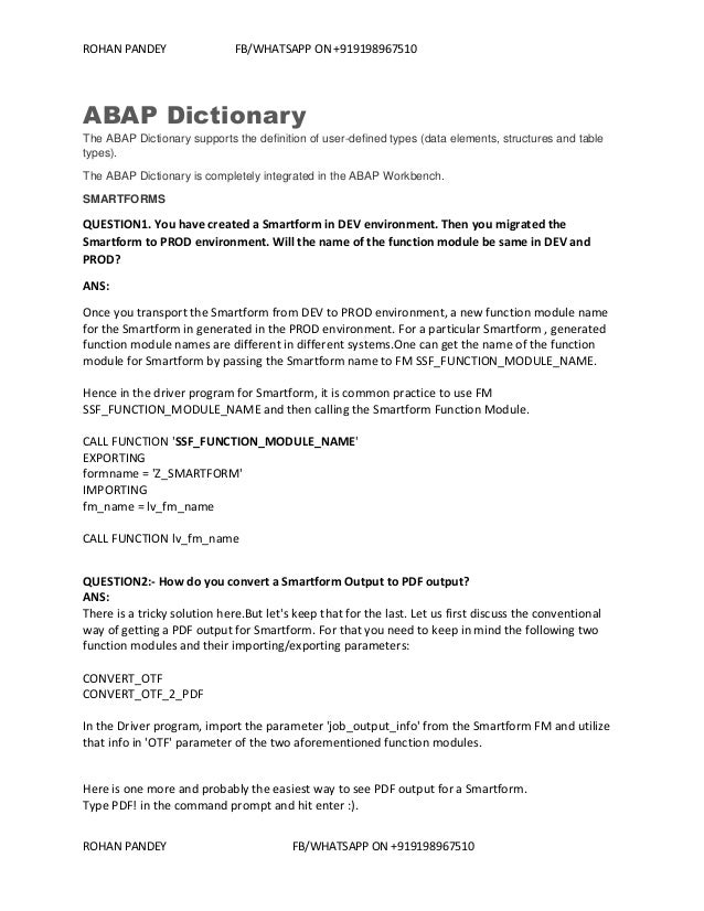 sap abap dictionary interview questions