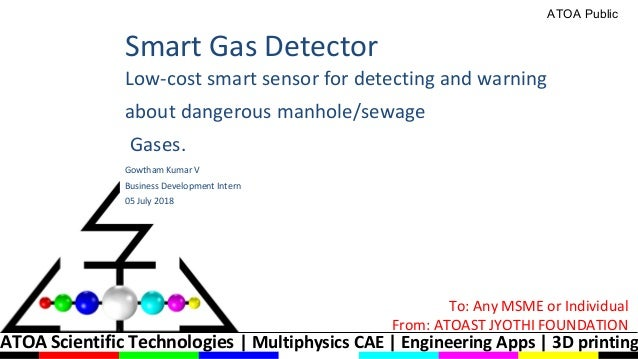 ATOA Scientific Technologies | Multiphysics CAE | Engineering Apps | 3D printing Smart Gas Detector Low-cost smart sensor ...