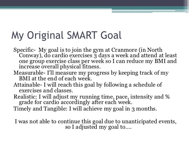 Smart goal final presentation