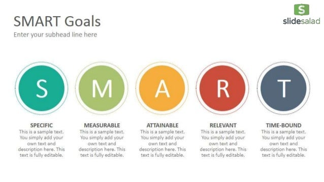 SMART Goals Diagrams Google Slides Presentation Template - SlideSalad