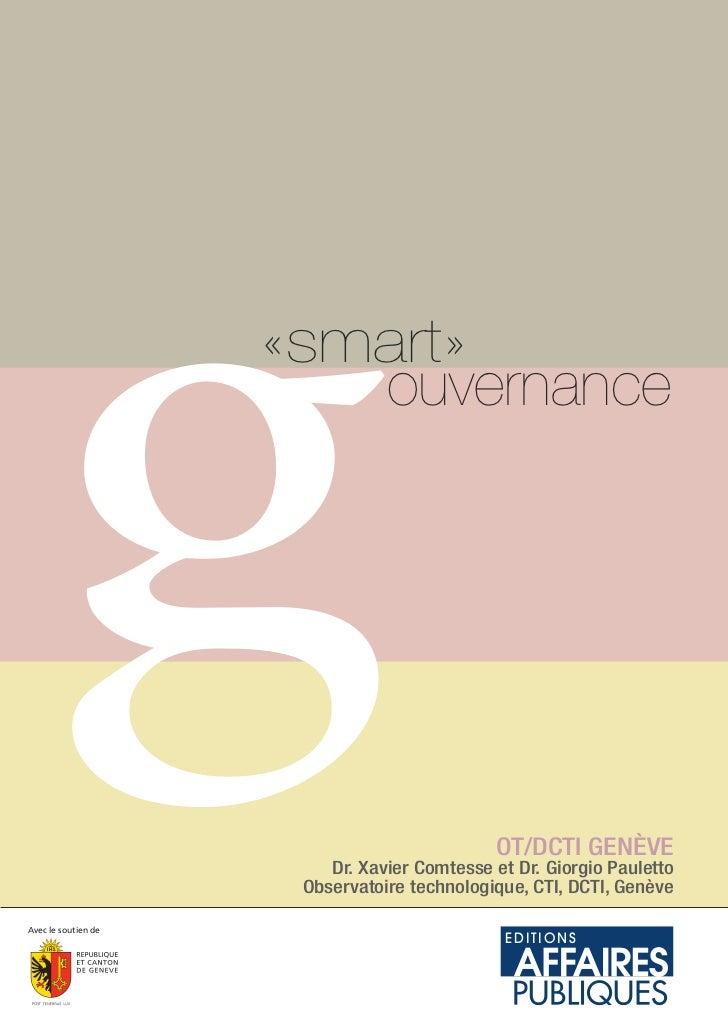 gAvec le soutien de                     «smart»                        ouvernance                                         ...