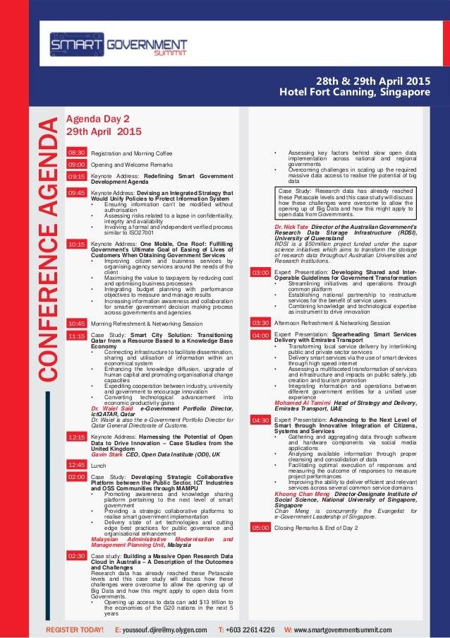 Smart goverment summit singapore 28th 29th april