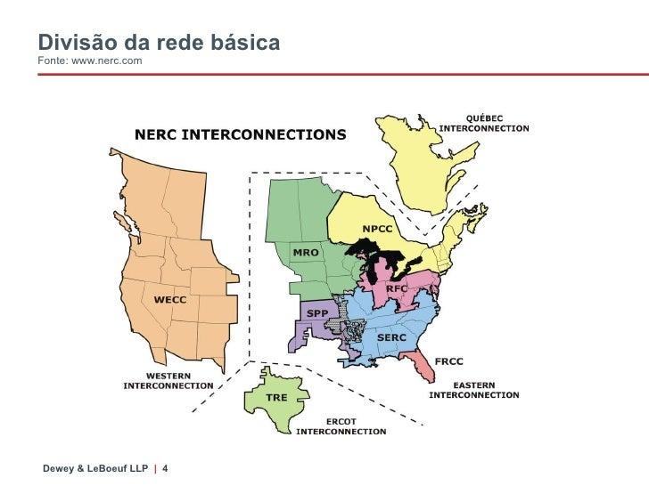 Divisão da rede básica Fonte: www.nerc.com
