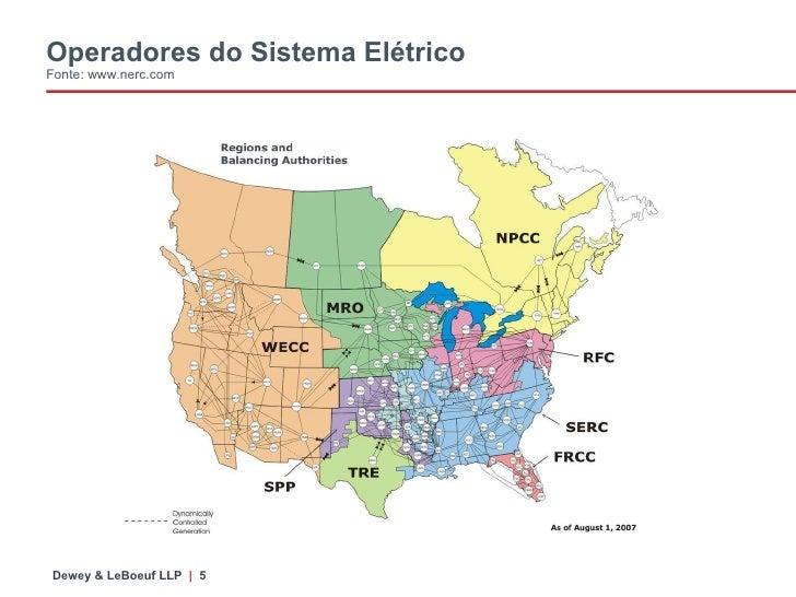 Operadores do Sistema Elétrico Fonte: www.nerc.com