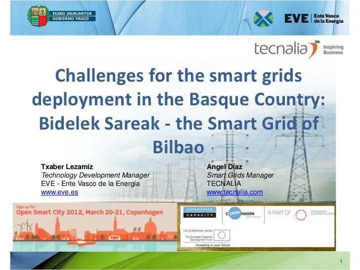 Challenges for the smart gridsdeployment in the Basque Country: Bidelek Sareak - the Smart Grid of               Bilbao Tx...