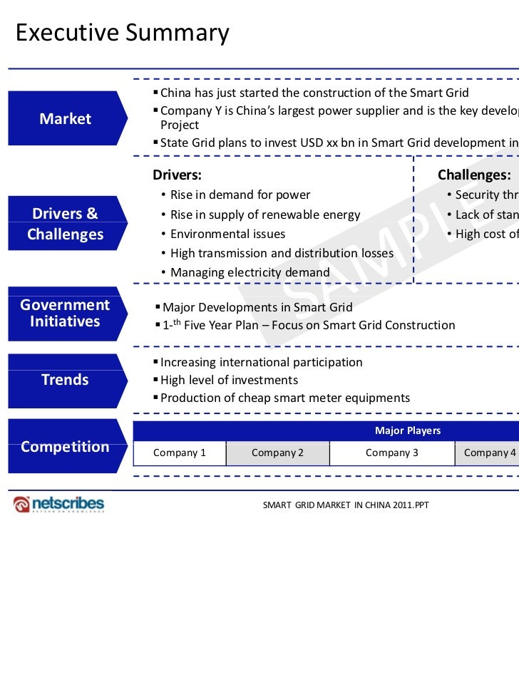 Market Research Report : Smart Grid Market in China 2011