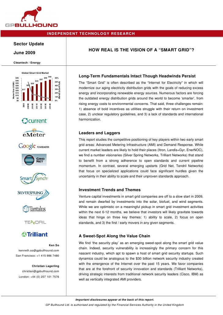 IND EPENDENT TECHNOLOGY RESEARCH          Sector Update                                                                   ...