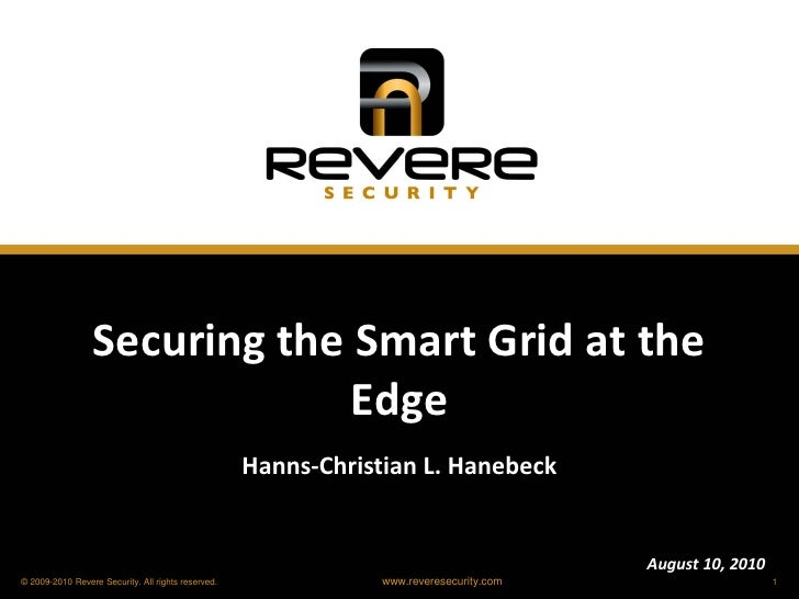 Securing the Smart Grid at the                               Edge                                                     Hann...