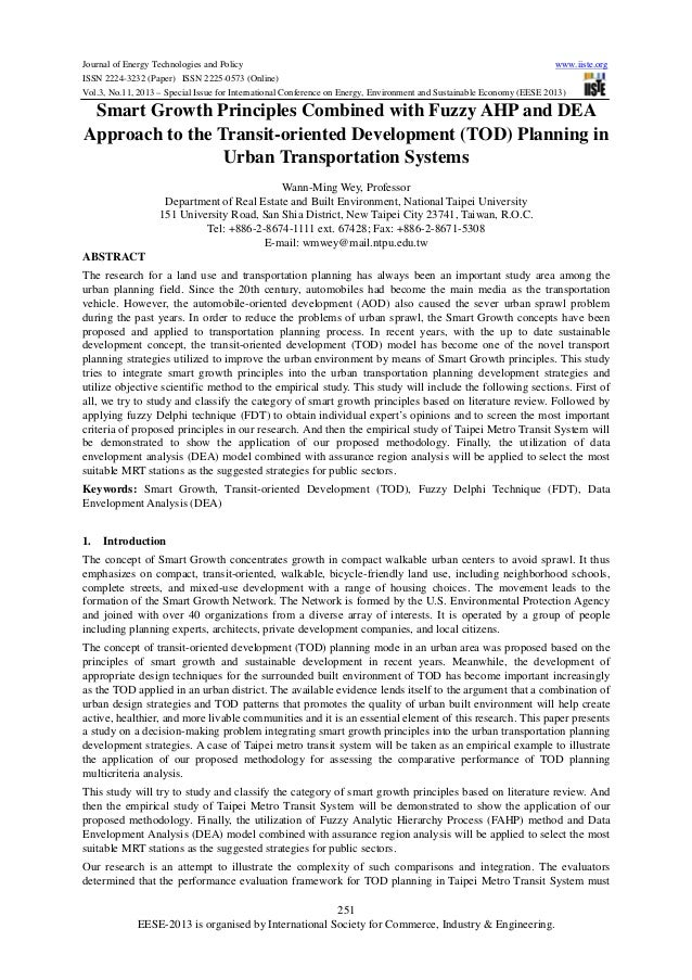 Journal of Energy Technologies and Policy www.iiste.org ISSN 2224-3232 (Paper) ISSN 2225-0573 (Online) Vol.3, No.11, 2013 ...