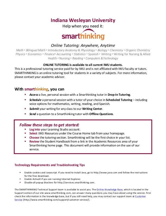 Smarthinking - Online Tutoring