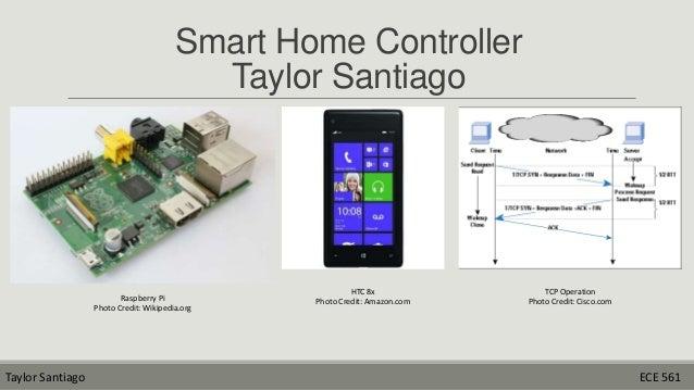 Smart Home Controller Taylor Santiago  Raspberry Pi Photo Credit: Wikipedia.org  Taylor Santiago  HTC 8x Photo Credit: Ama...