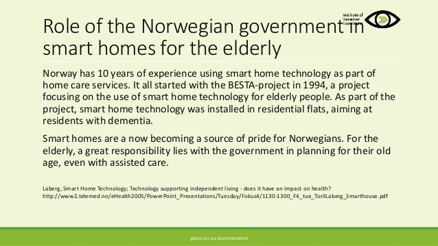 Project report on old age homes