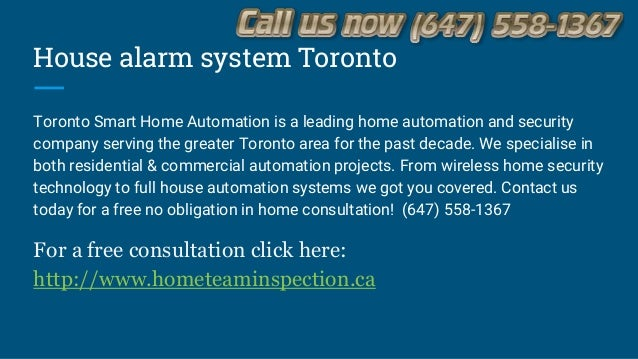 Smart home security systems Toronto - (647) 558-1367