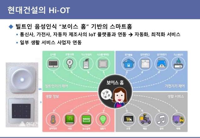 """현대건설의 Hi-OT ◆ 빌트인 음성인식 """"보이스 홈"""" 기반의 스마트홈"""