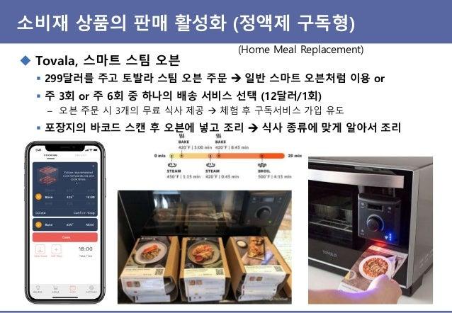 제품-서비스 연계 – 다른 제품 판매 활성화 ◆ Tovala, 스마트 스팀 오븐