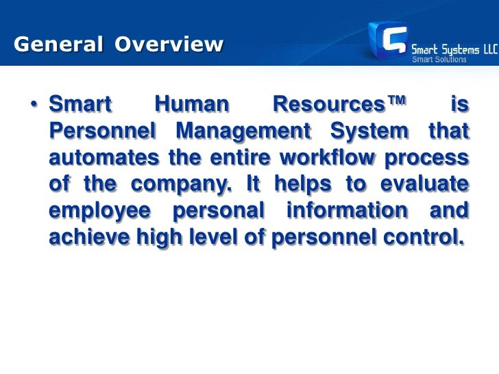 Smart Human Resources Software Presentation