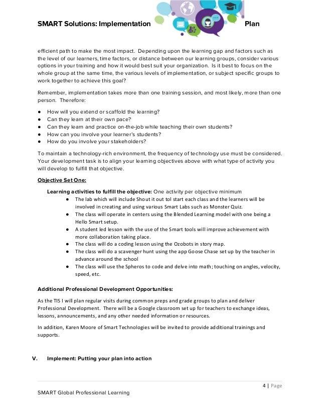 Smart implementation plan docx