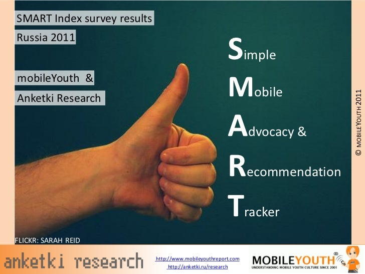 SMART Index survey resultsRussia 2011                                                        SimplemobileYouth &          ...