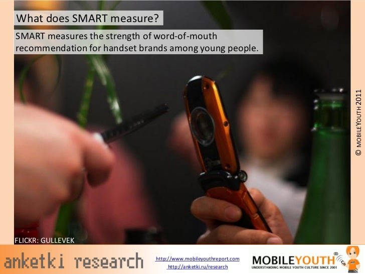 What does SMART measure?SMART measures the strength of word-of-mouthrecommendation for handset brands among young people. ...