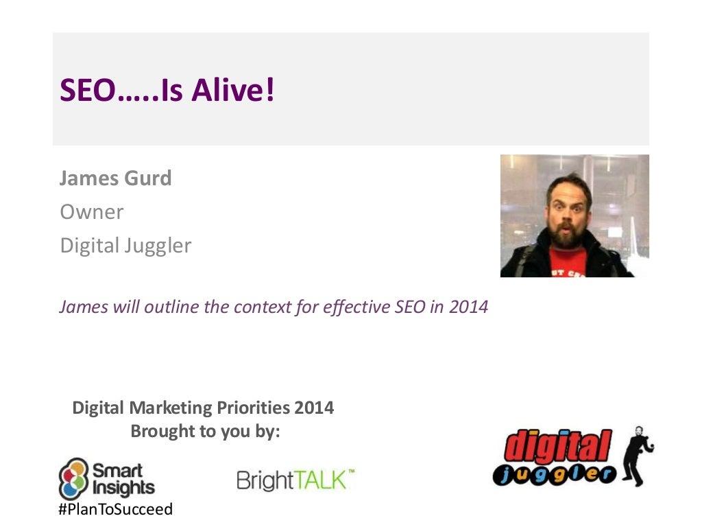 SEO Trends for 2014 - Smart Insights Digital Marketing Priorities
