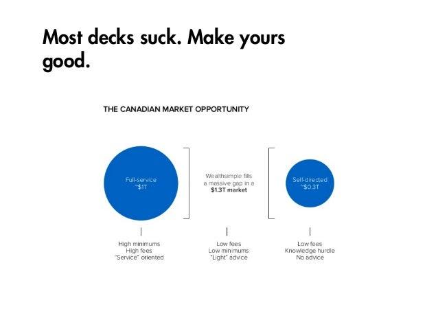Most decks suck. Make yours good.