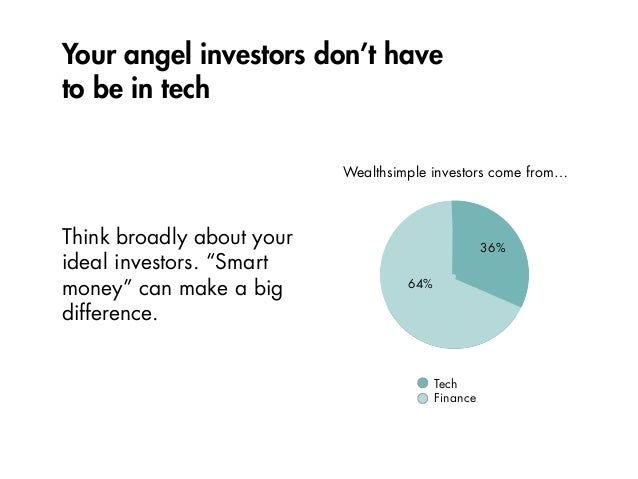 """Your angel investors don't have to be in tech Think broadly about your ideal investors. """"Smart money"""" can make a big diffe..."""