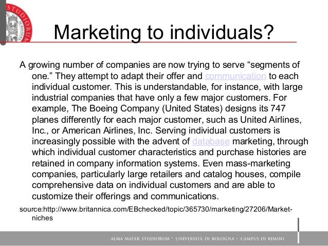 Segmentation And Target Market Paper: United Airlines