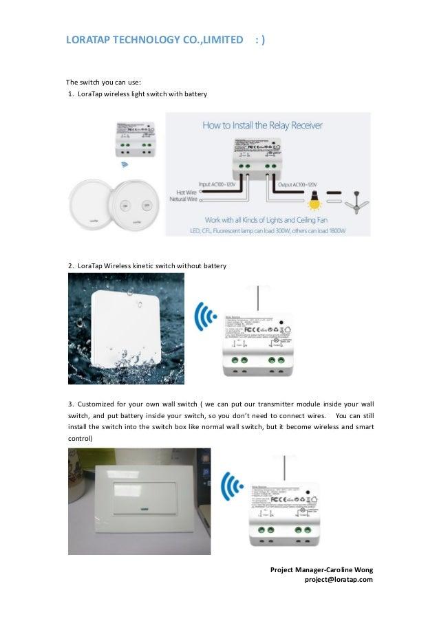Smart lighting control projects loratap