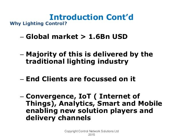 Smart Lighting Controls, Whose Business Is It?