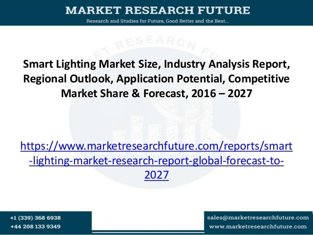 Smart Lighting Market Size, Industry Analysis Report, Regional Outlook, Application Potential, Competitive Market Share & ...