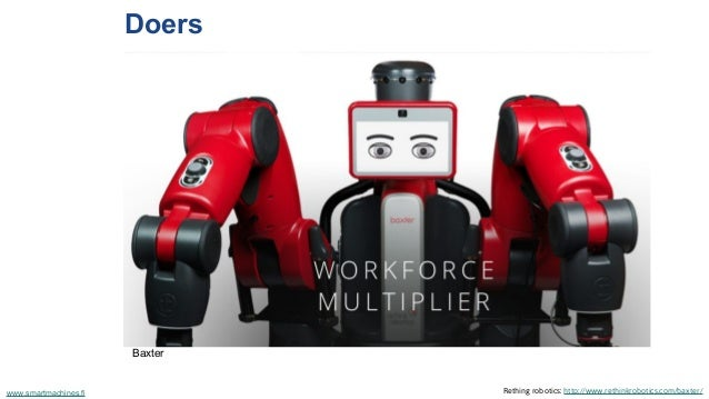 Doers Rething robotics: http://www.rethinkrobotics.com/baxter/www.smartmachines.fi Baxter