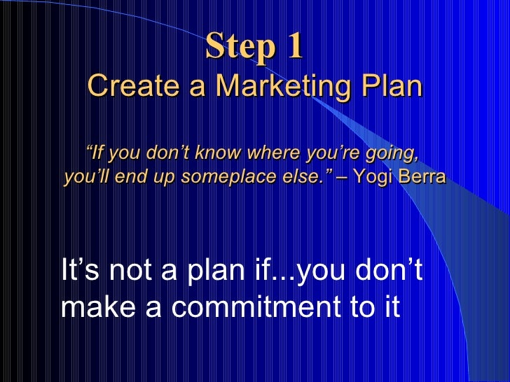 Smart Marketing Planning  Steps To Promoting Your Small Business L
