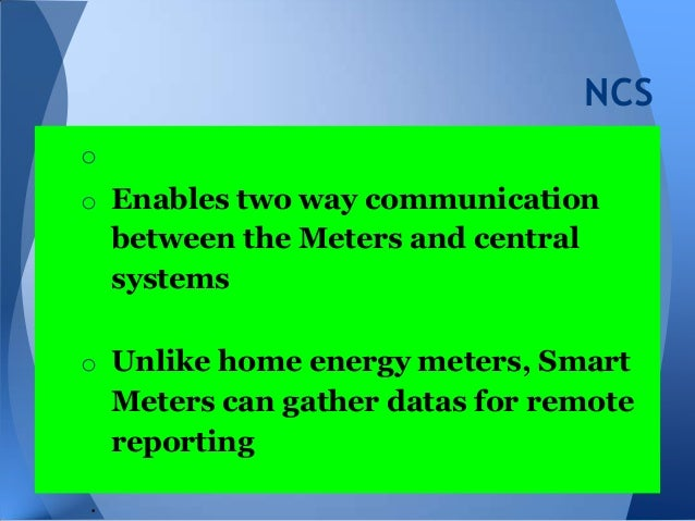 Smart Meter- Overview of System and Capabilities Slide 3
