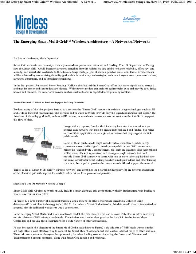 <b>The Emerging Smart Multi-Grid™ Wireless Architecture – A Networ...                       http://www.wirelessdesignmag.c...