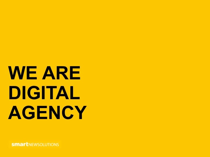 WE AREDIGITALAGENCY